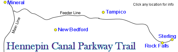 Hennepin Canal Feeder Line Map